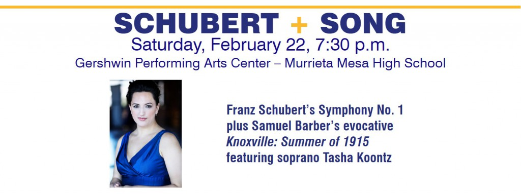 February 22, Schubert + Song